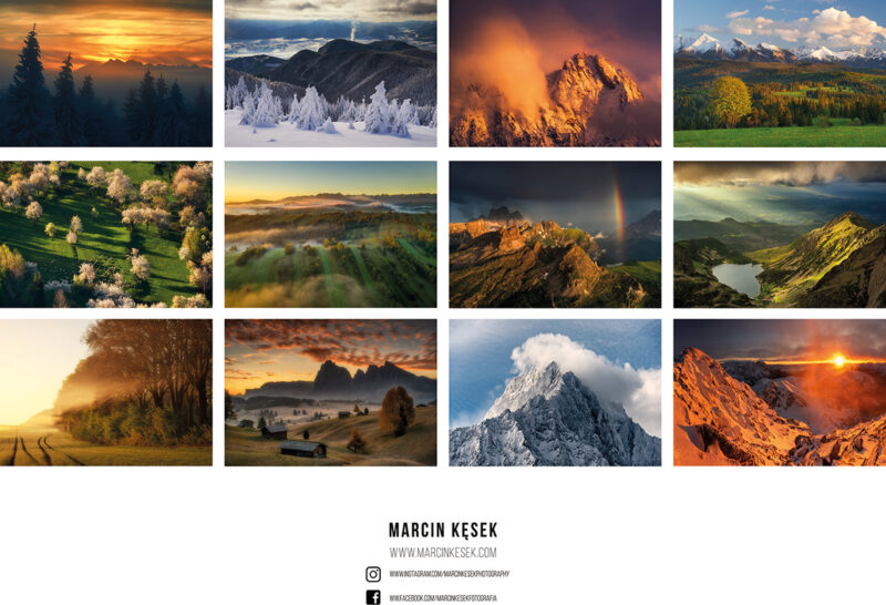 kalendarze górskie, kalendarz górski, kalendarz z krajobrazami, kalendarze ścienne