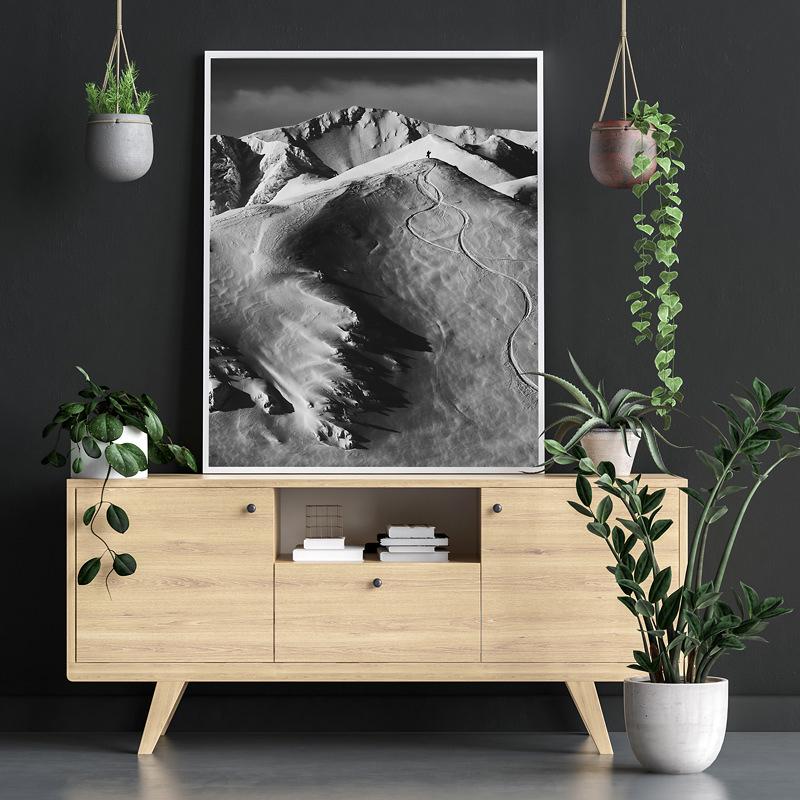 wydruk z Tatrami na ėcian© w czerni i bieli